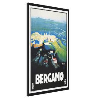 Impresión del viaje del paisaje de Bérgamo Italia