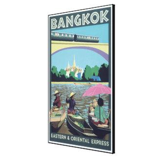Impresión del viaje del vintage de Bangkok,