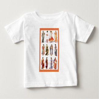 Impresión del vintage de Styles_of_Sari Camiseta De Bebé