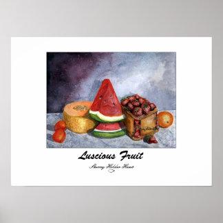 Impresión deliciosa de la fruta - modificada para  póster