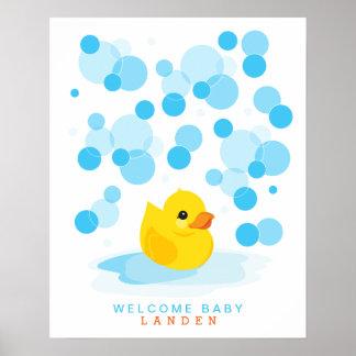 Impresión Ducky de goma del libro de visitas de la