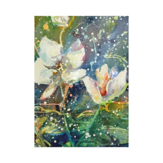 Impresión dulce de la acuarela de la magnolia