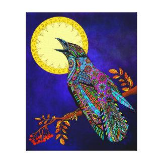 Impresión eléctrica de la lona del cuervo