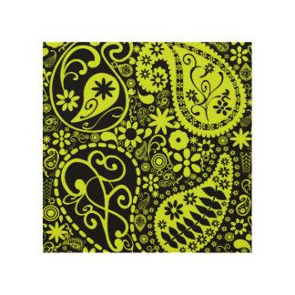 Impresión En Madera amarillo