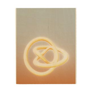 Impresión En Madera Amarillo azul de la torsión del metal