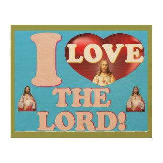 Impresión En Madera ¡Amo al señor!