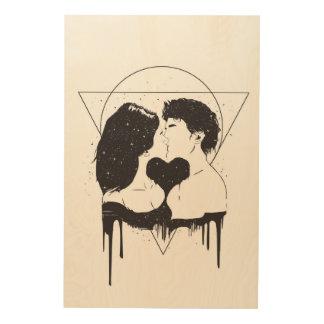 Impresión En Madera Amor cósmico