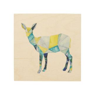 Impresión En Madera Animal geométrico de los ciervos