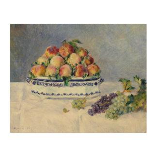 Impresión En Madera Auguste Renoir - todavía vida con los melocotones