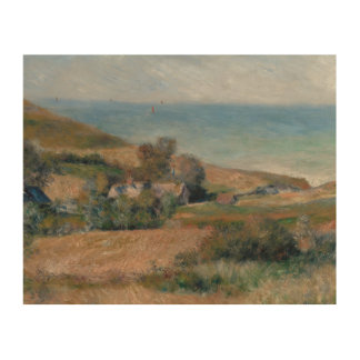 Impresión En Madera Auguste Renoir - vista de la costa