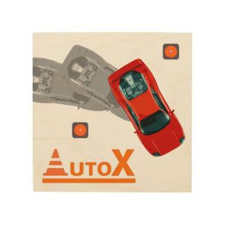 Impresión En Madera AuTOX-Rojo