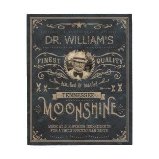 Impresión En Madera Azul de encargo del vintage de la medicina del