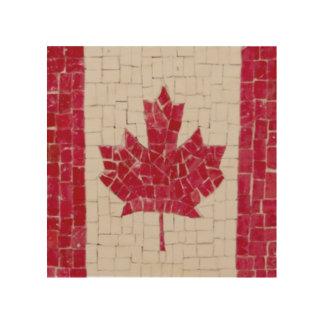 Impresión En Madera Bandera canadiense orgullosa de las decoraciones