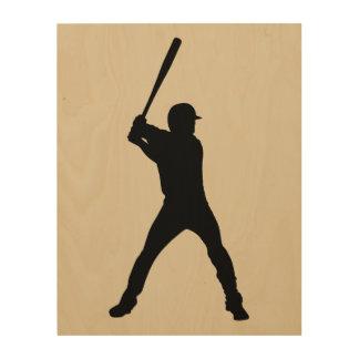 Impresión En Madera Béisbol