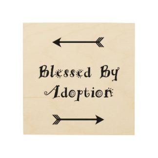 Impresión En Madera Bendecido por la adopción - acogida