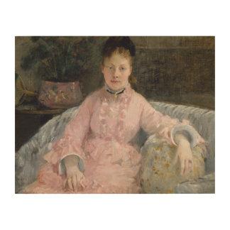 Impresión En Madera Berthe Morisot - el vestido rosado