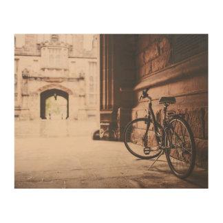 Impresión En Madera Bici del vintage