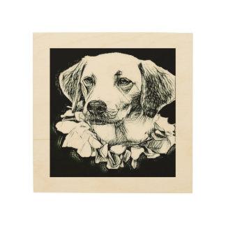 Impresión En Madera Bosquejo lindo del lápiz de Labrador