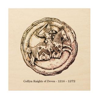 Impresión En Madera Caballeros de Coffyn de Devon 1216 - 1272