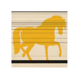 Impresión En Madera caballo