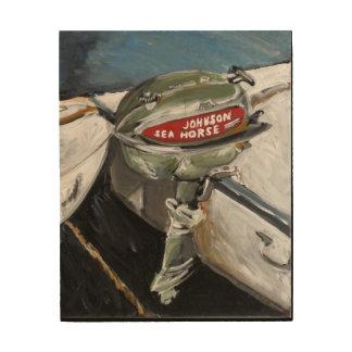 Impresión En Madera Caballo de mar de Johnson