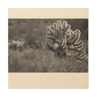 Impresión En Madera Cactus de Arizona Cholla