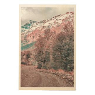 Impresión En Madera Camino vacío de la grava - Parque Nacional Los