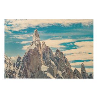 Impresión En Madera Cerro Torre Parque Nacional Los Glaciares