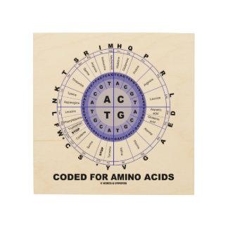 Impresión En Madera Cifrado para la rueda del codón de los aminoácidos