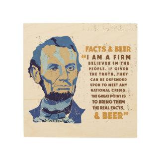 Impresión En Madera Cita de la cerveza de Abrham Lincoln