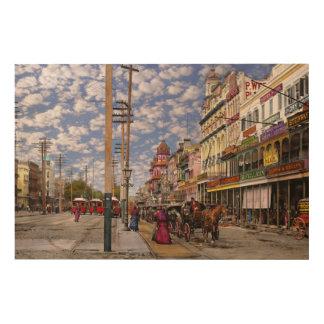 Impresión En Madera Ciudad - New Orleans la era 1887 del Victorian