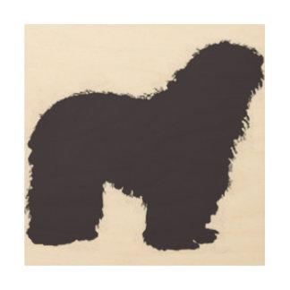Impresión En Madera color del bergamasco_silhouette