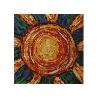 Impresión En Madera Colores abstractos del resplandor solar en el