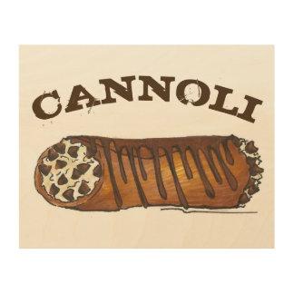 Impresión En Madera Comida italiana del postre de Cannoli del