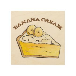 Impresión En Madera Comida poner crema de la panadería del postre de