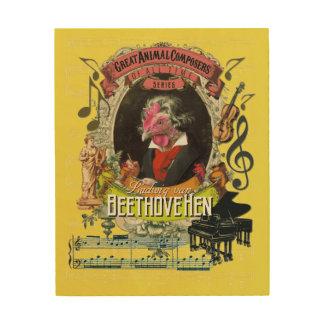 Impresión En Madera Compositor animal divertido Beethoven de Luis