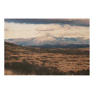 Impresión En Madera Cordillera