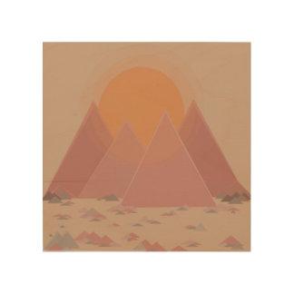 Impresión En Madera Cordillera en paisaje rocoso en calor que se