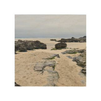 Impresión En Madera Cornualles Penhale enarena la playa Perranporth 2