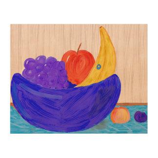 Impresión En Madera Cuenco de fruta 2 no comestible