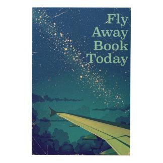 Impresión En Madera De la mosca del libro poster ausente del vuelo del
