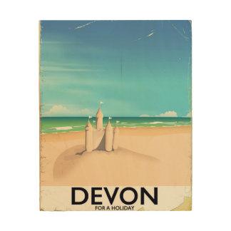 Impresión En Madera Devon, Inglaterra por un día de fiesta