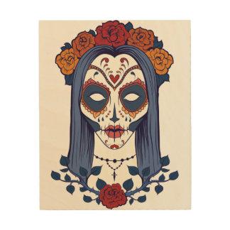 Impresión En Madera Día de la mujer de los muertos
