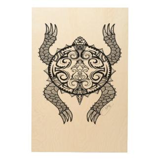 Impresión En Madera Dibujo de la tortuga