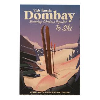 Impresión En Madera Dombay, poster del esquí de la república de