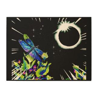 Impresión En Madera Eclipse de la libélula