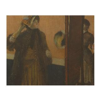 Impresión En Madera Edgar Degas - en el sombrerero