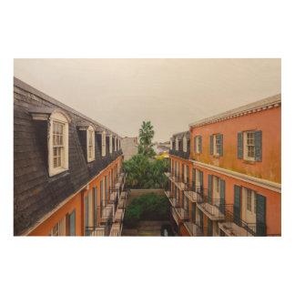 Impresión En Madera Edificios y palmeras en New Orleans