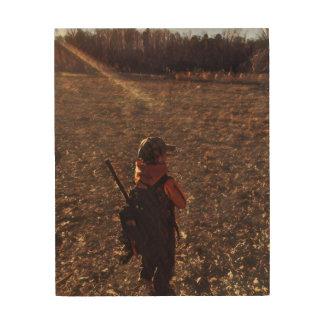Impresión En Madera Efecto de la foto de la memoria del pequeño