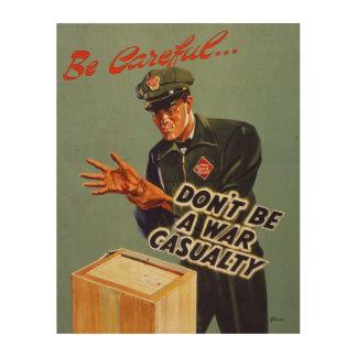 Impresión En Madera El ferrocarril expresa el poster 1940 de la